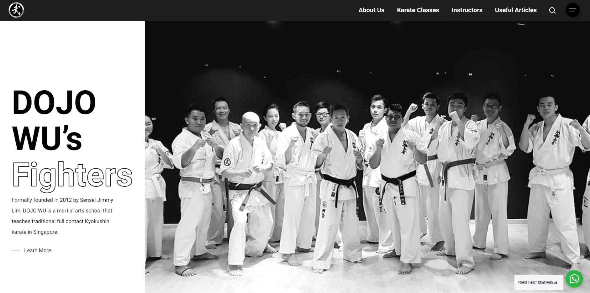 Dojo wu Top Karate Classes in Singapore