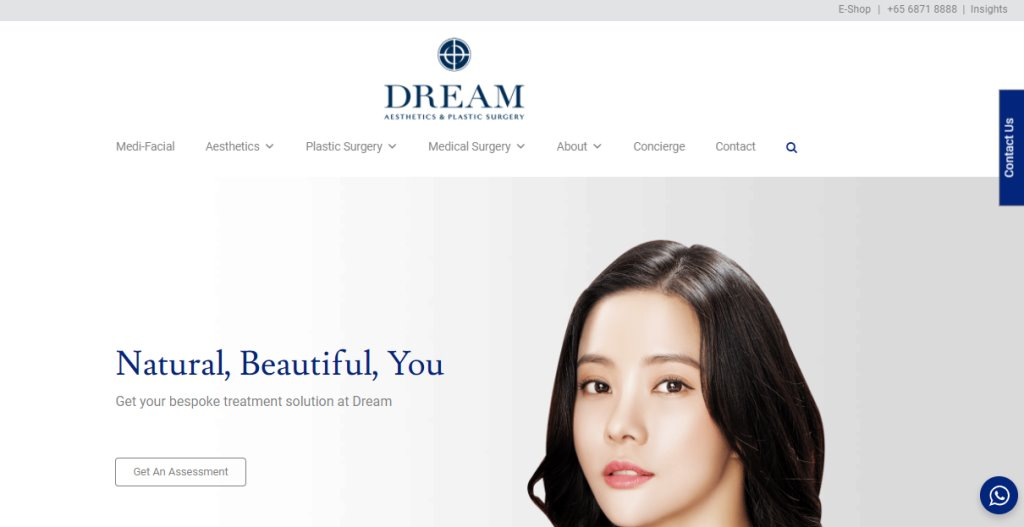 Dream Aesthetic Top Plastic Surgery Clinics in Singapore