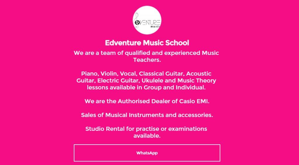 Edventure Top Piano Lessons in Singapore