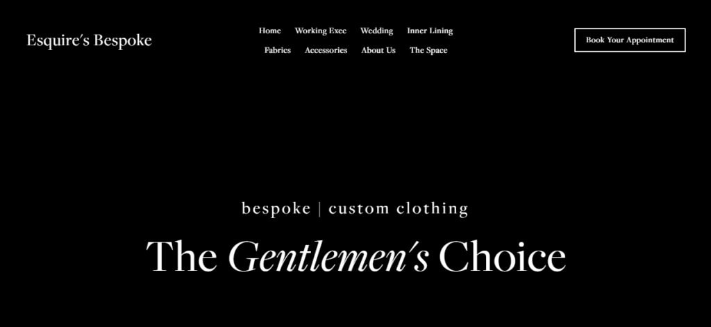 Esquire Top Men's Tailors for Suits in Singapore