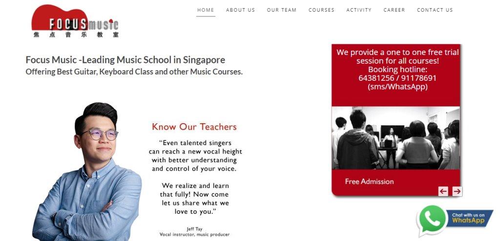 Focus Music Top Piano Lessons in Singapore