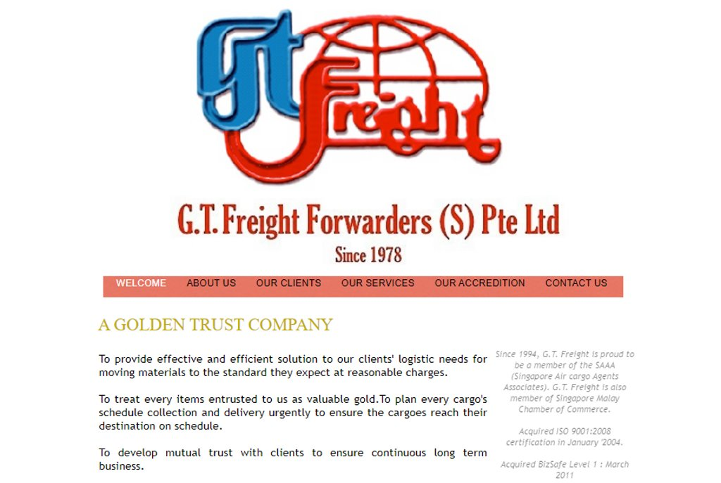 GT Freight Top Freight Forwarding Companies in Singapore