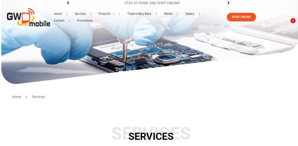 GW Mobile Top Phone Repair Services in Singapore