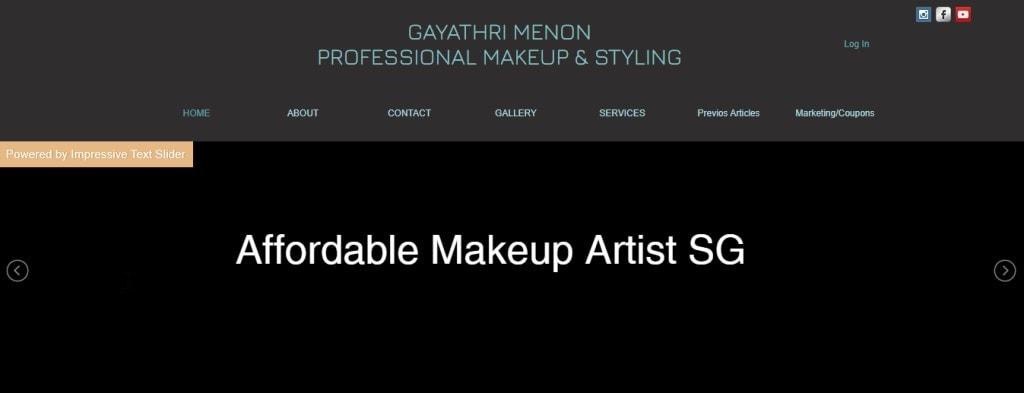 Gayathri Menon Top Bridal Makeup Studios in Singapore