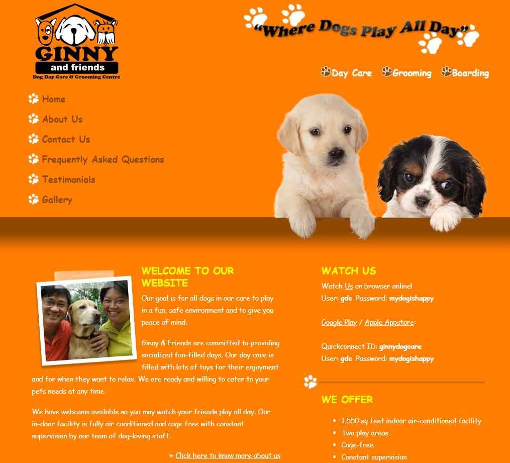 Ginny Top Pet Hotels in Singapore