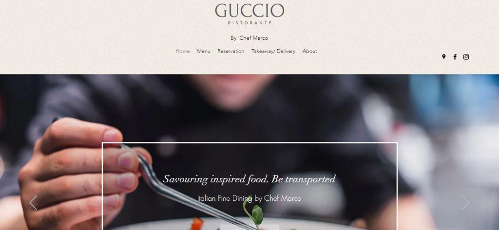 Guccio Top Italian Restaurants In Singapore