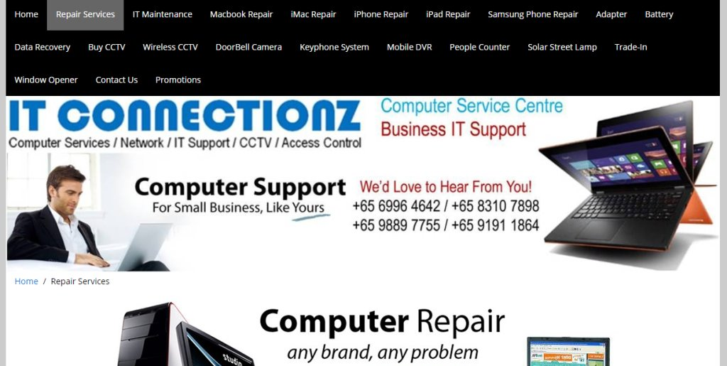 IT Connectionz Top Laptop Repair in Singapore