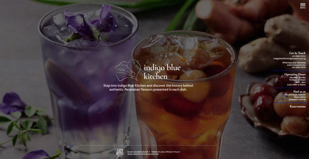 Indigo Blue Top Peranakan Restaurants in Singapore