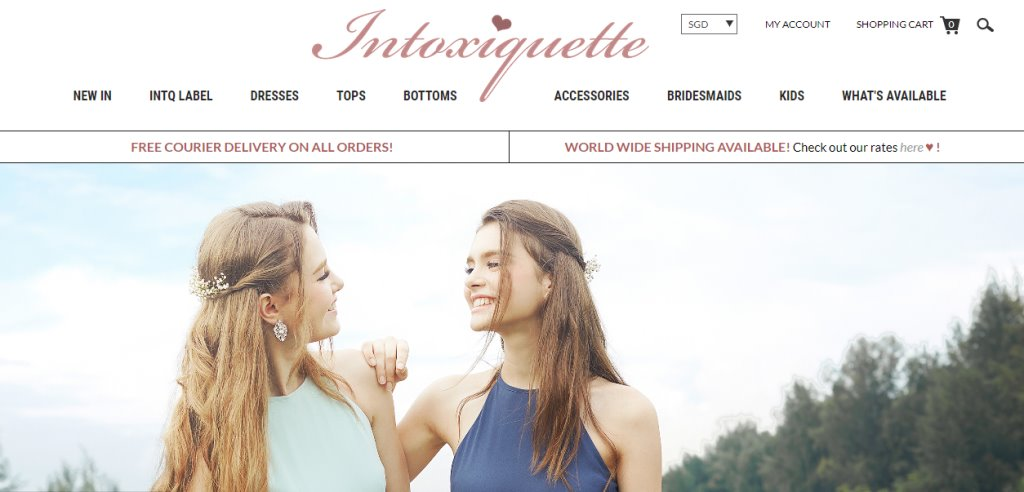 Intoxiquette Top Bridesmaid Dress Stores in Singapore