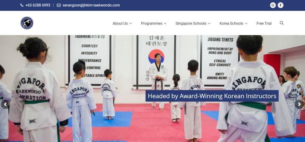 JH Kim Top Taekwondo Classes in Singapore