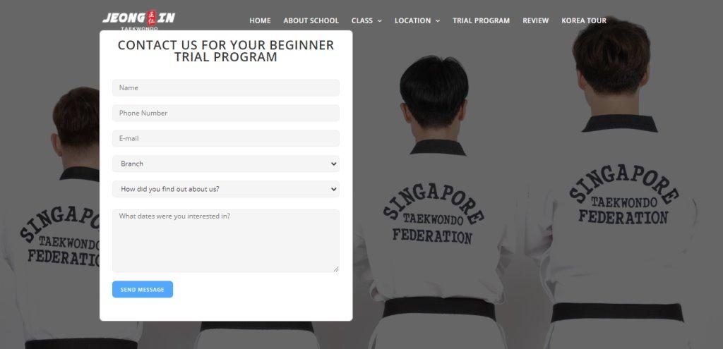 Jeong In Taekwondo Top Taekwondo Classes in Singapore