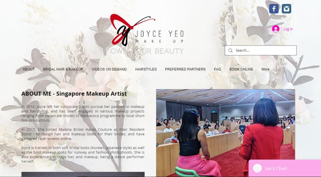 Joyce Yeo Top Bridal Makeup Studios in Singapore