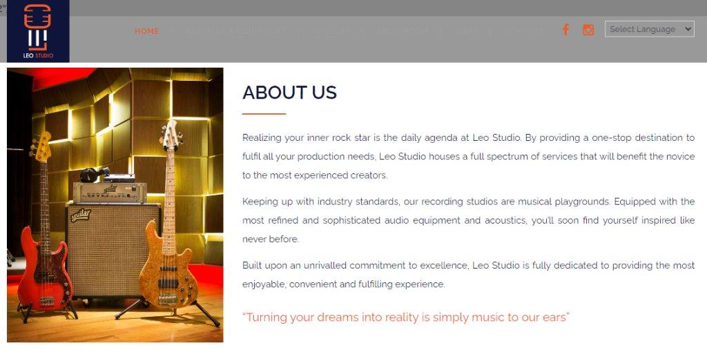 LEo Studio Top Music Studios in Singapore