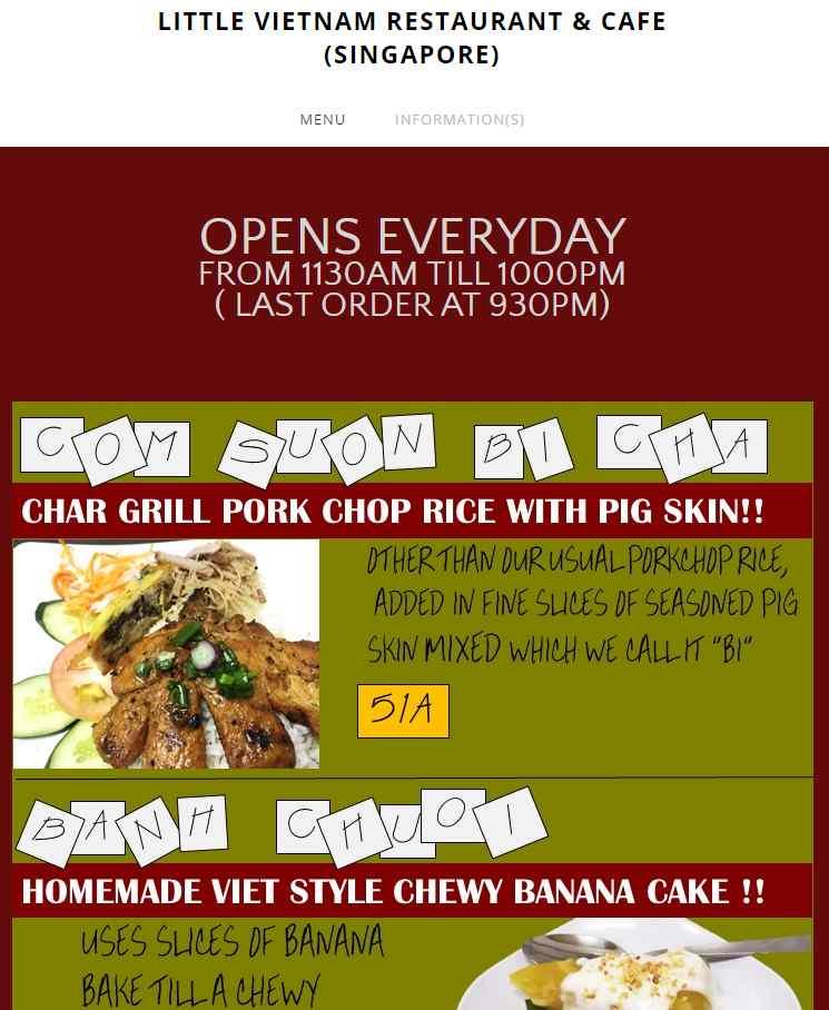 Little Vietnam Top Vietnamese Food Restaurants in Singapore