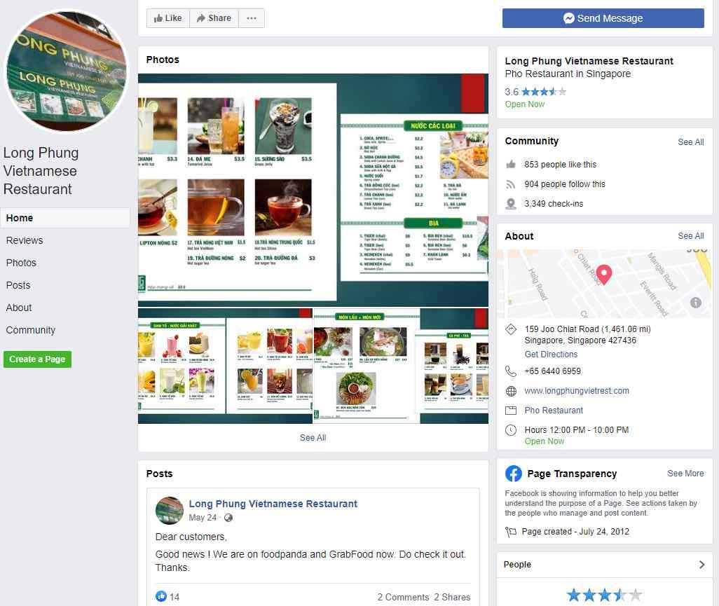 Long Phung Top Vietnamese Food Restaurants in Singapore