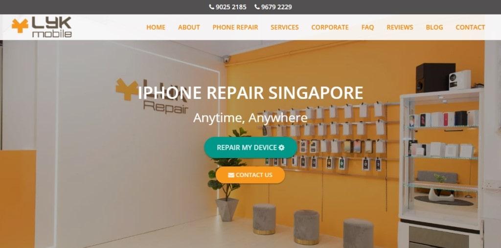 Lyk Mobile Top Phone Repair Services in Singapore