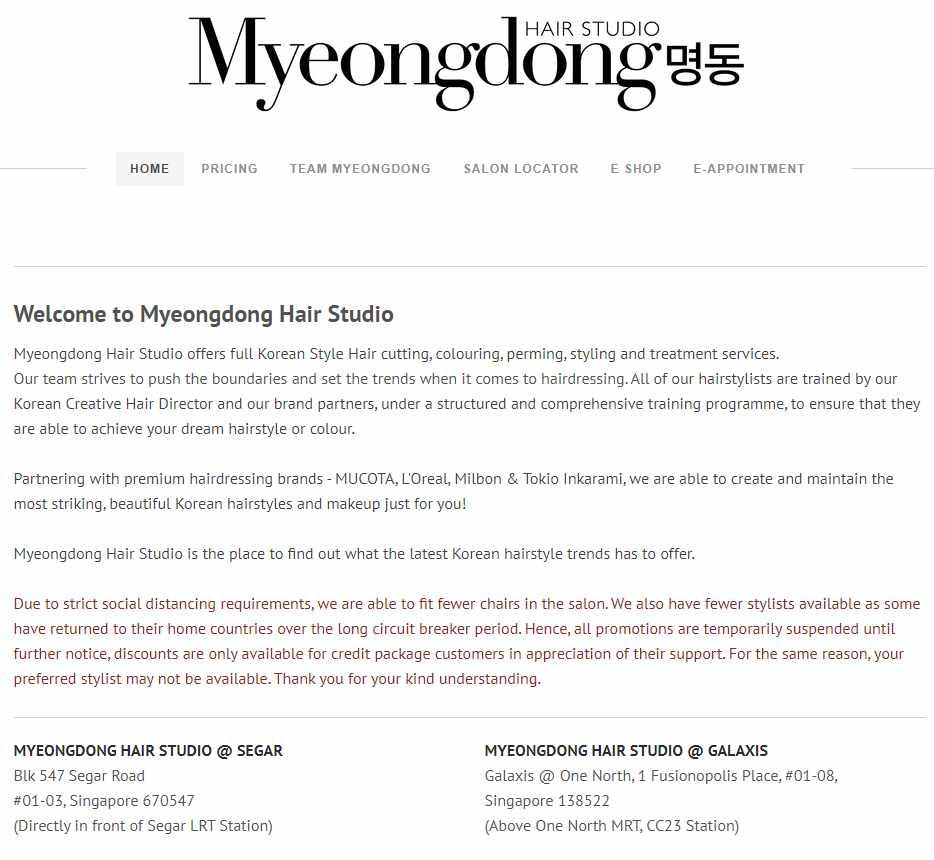 Myeongdong Top Korean Hair Salons in Singapore