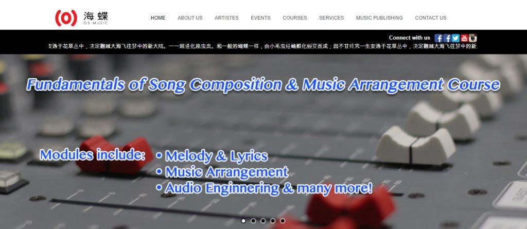 OB Music Top Music Studios in Singapore