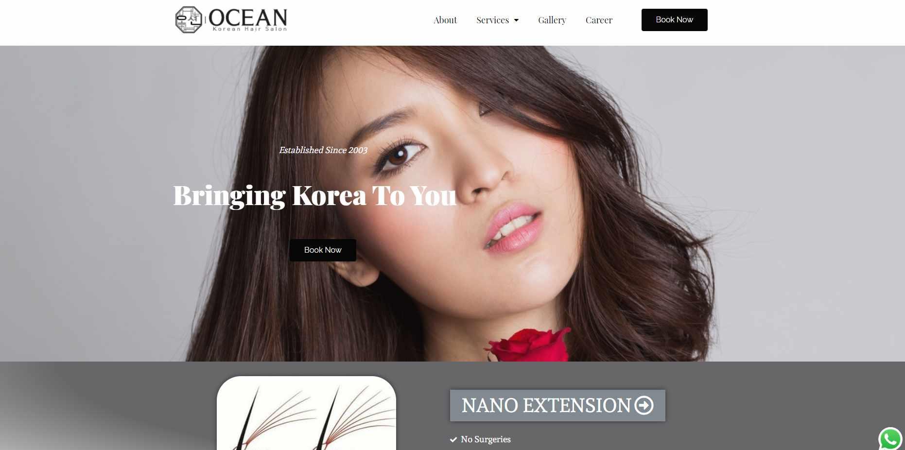 Ocean Top Korean Hair Salons in Singapore