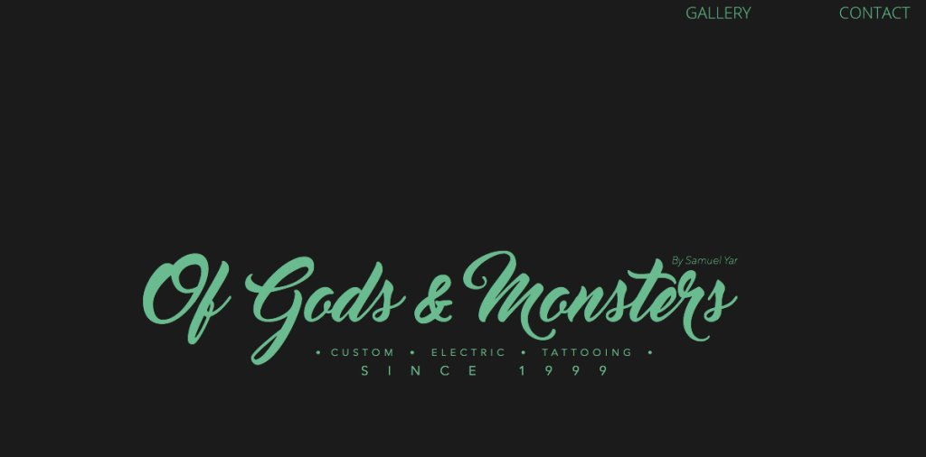 Of Gods and Monsters Top Tattoo Shops in Singapore