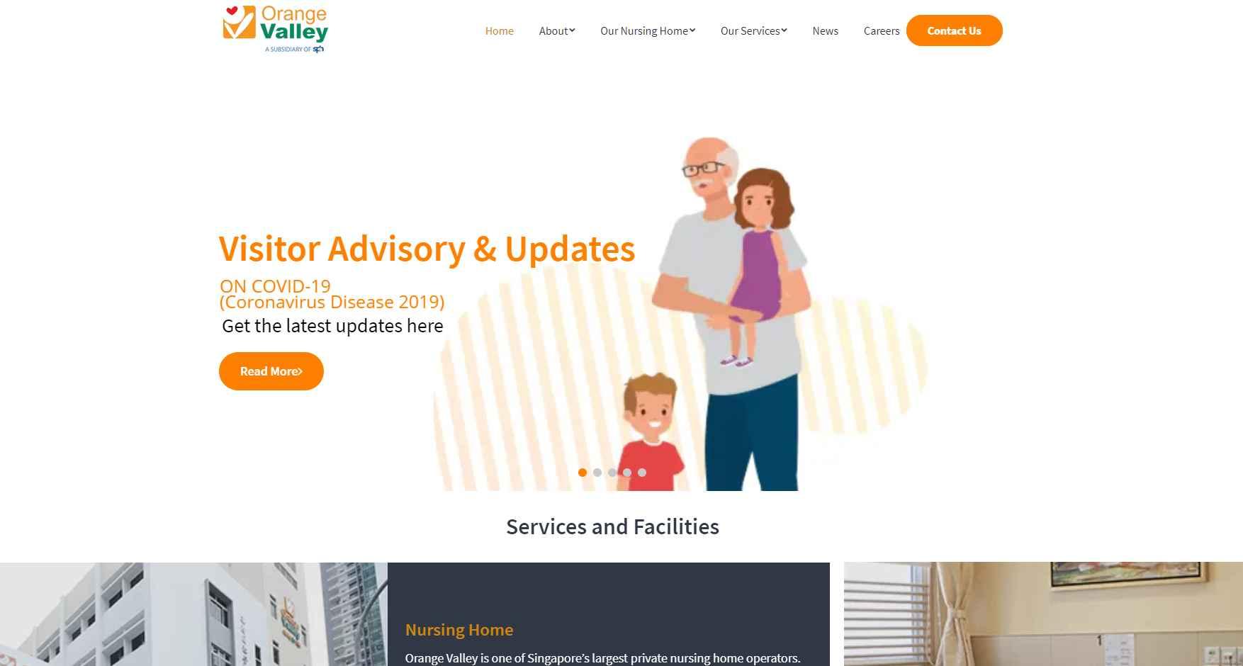 Orange Valley Top Nursing Homes in Singapore