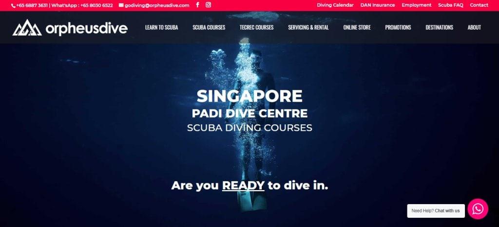 Orpheus dive Top Scuba Diving Schools in Singapore