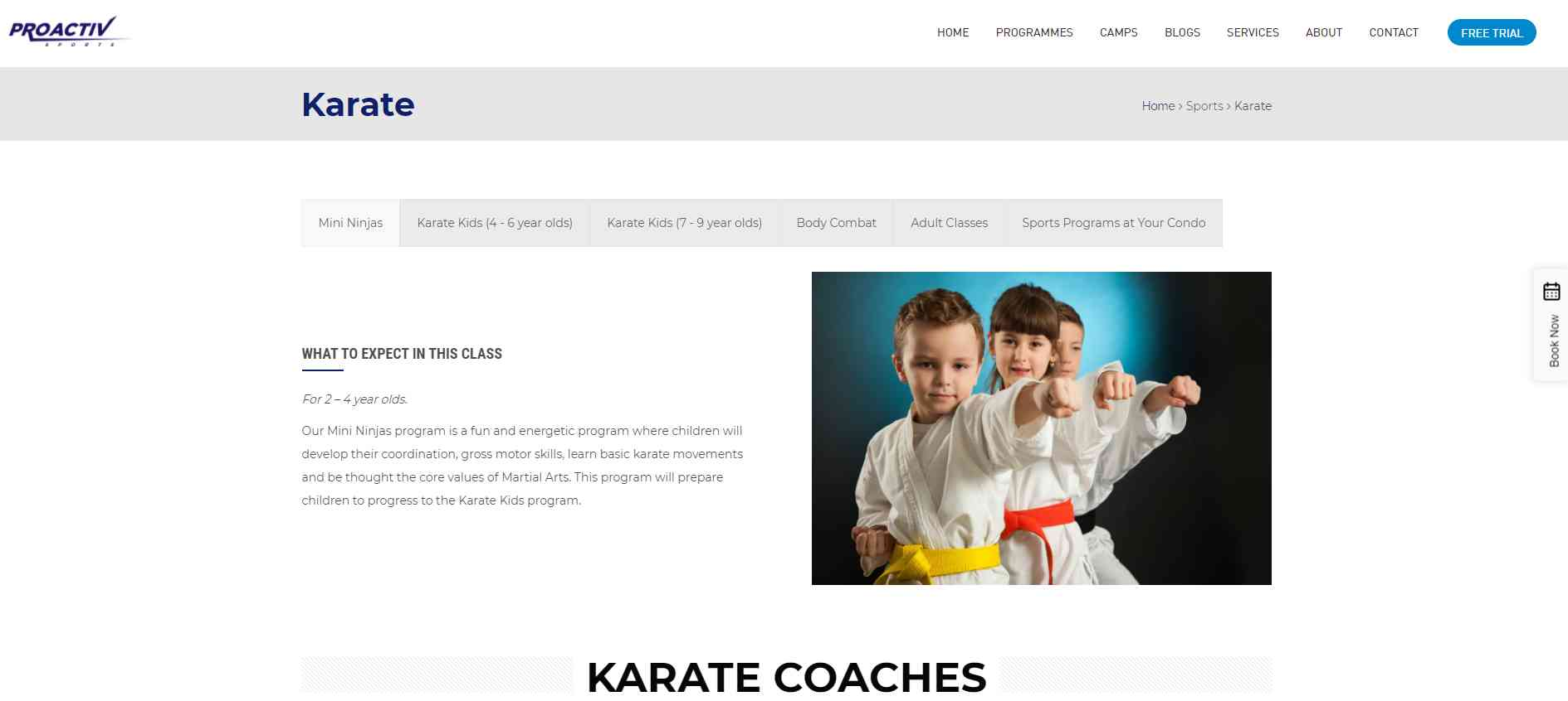 PRoactiv Top Karate Classes in Singapore