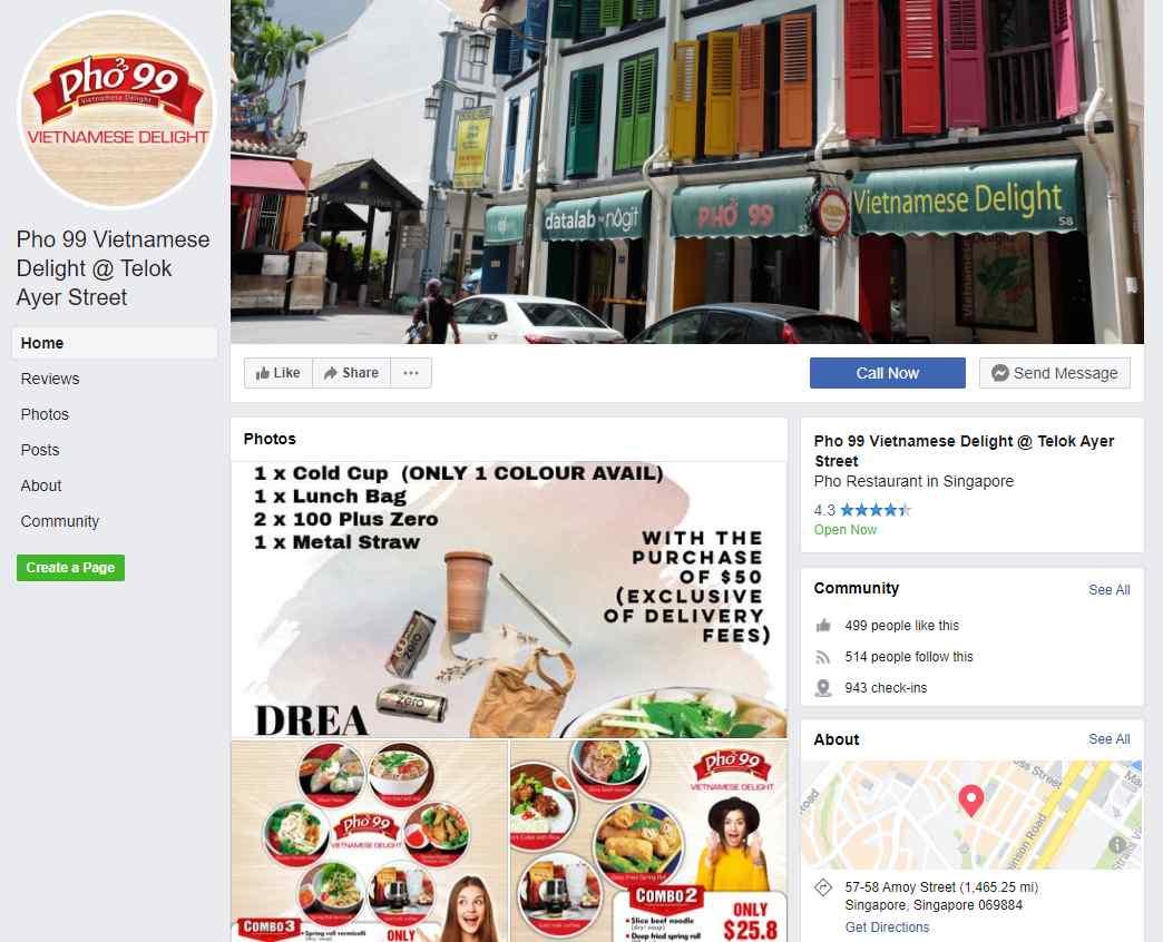 Pho 99 Top Vietnamese Food Restaurants in Singapore