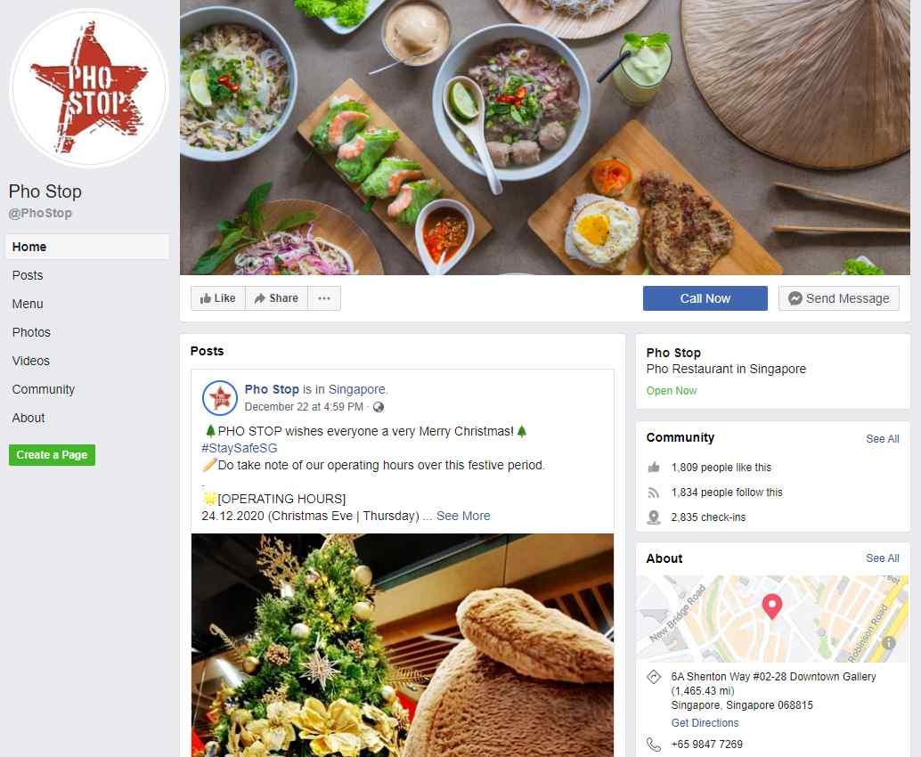 Pho Shop Top Vietnamese Food Restaurants in Singapore