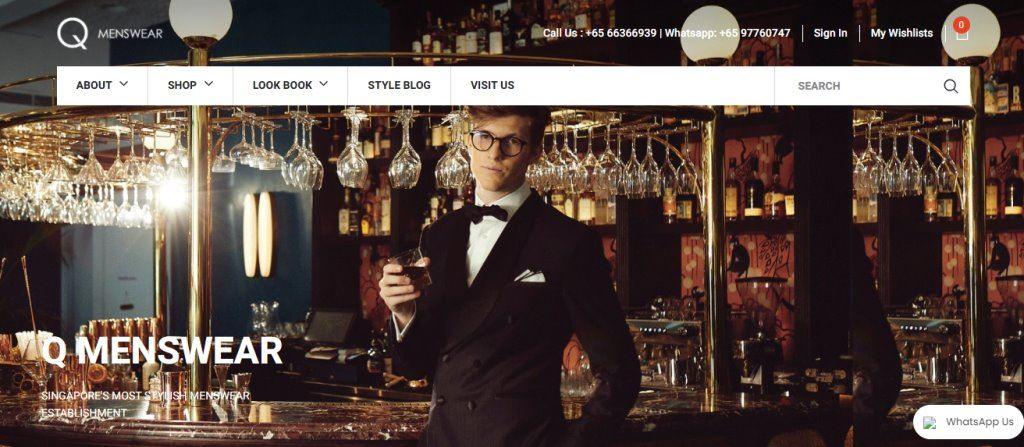 Q-mens Top Men's Tailors for Suits in Singapore