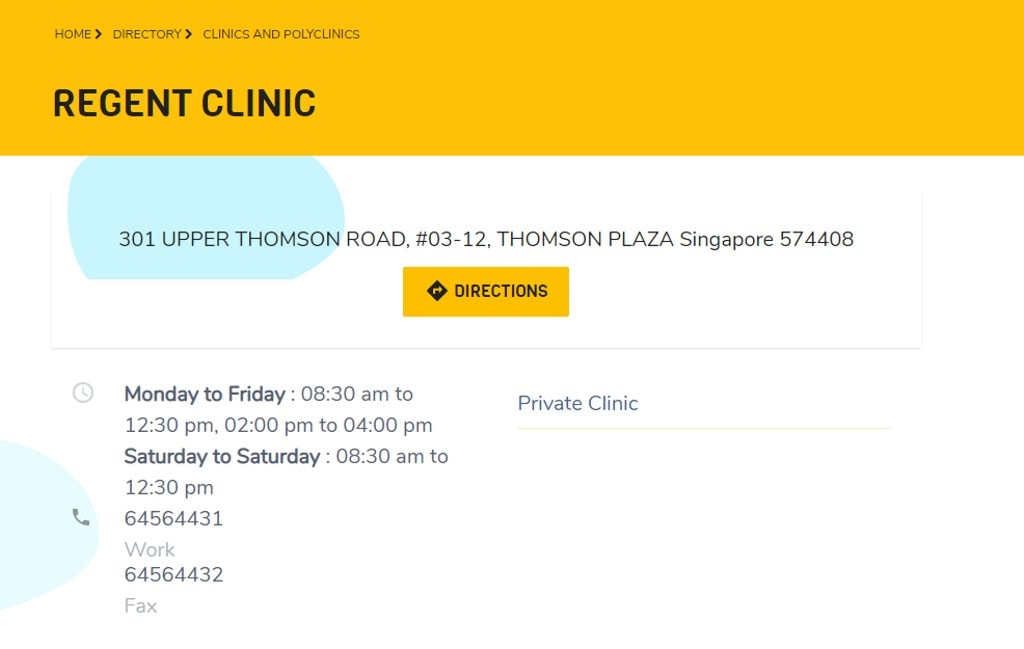Regent Clinic Top Family Clinics in Singapore