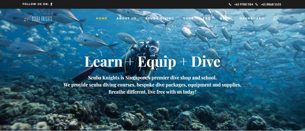 Scuba Knights Top Scuba Diving Schools in Singapore