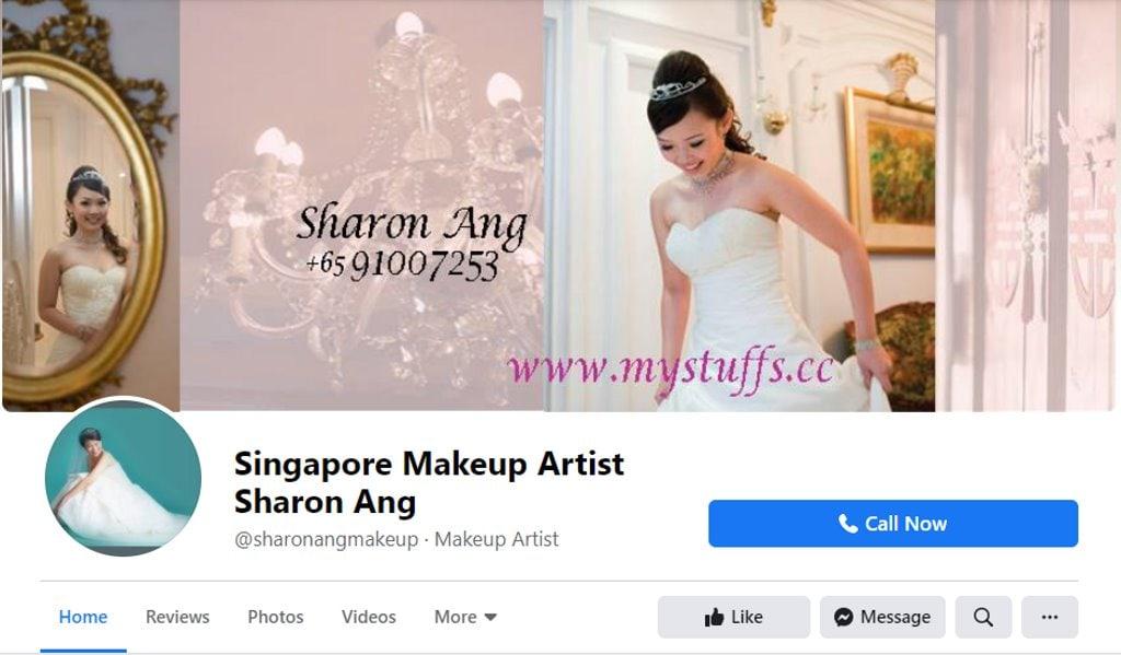 Sharon ANg Top Bridal Makeup Studios in Singapore