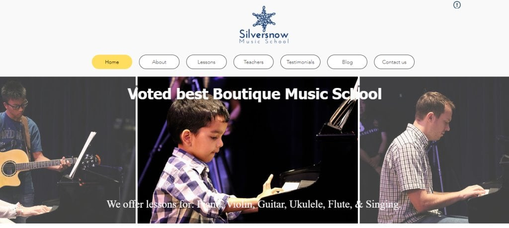 Silver Snow Top Piano Lessons in Singapore