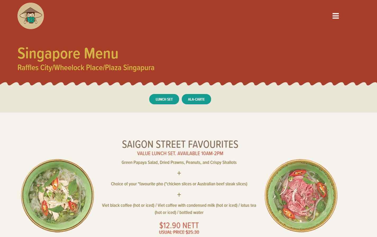 Singapore Menu Top Vietnamese Food Restaurants in Singapore