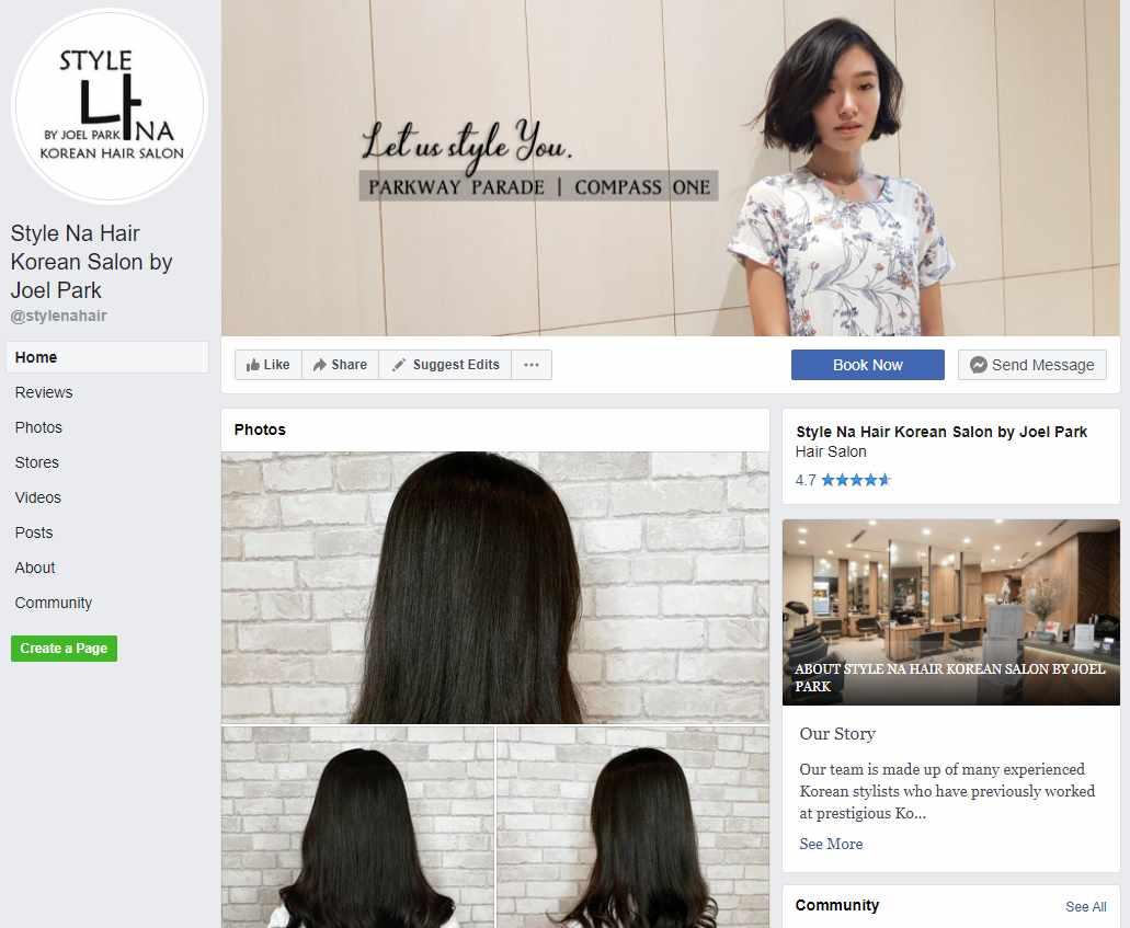 Style na hair Top Korean Hair Salons in Singapore