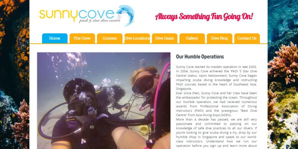 Sunny Cove Top Scuba Diving Schools in Singapore