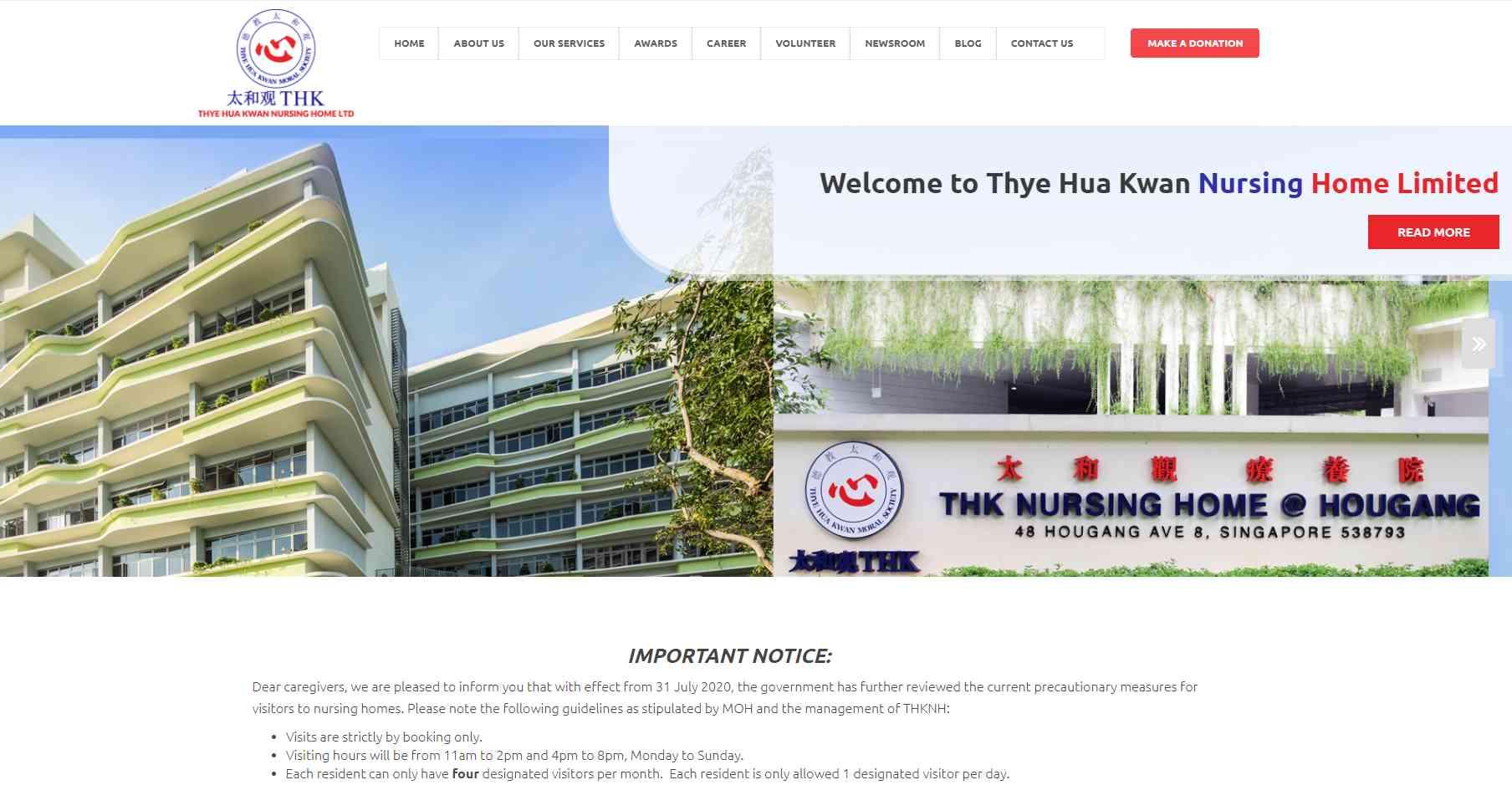 THKNH Top Nursing Homes in Singapore