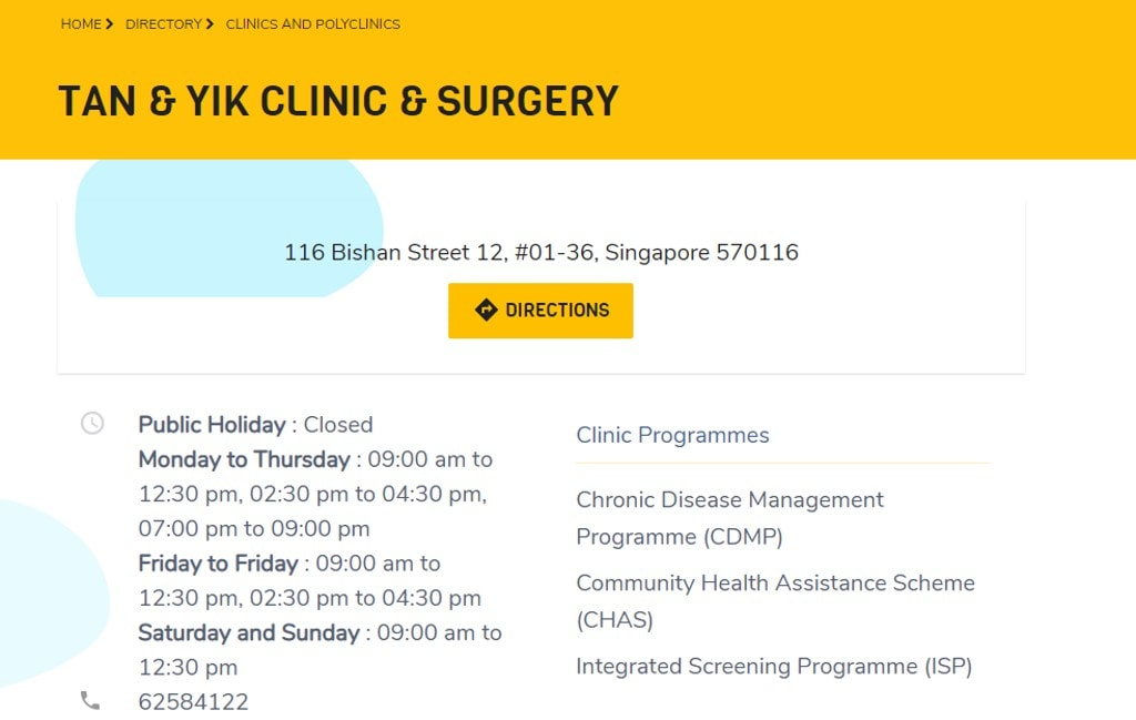Tan and Yik Top Family Clinics in Singapore