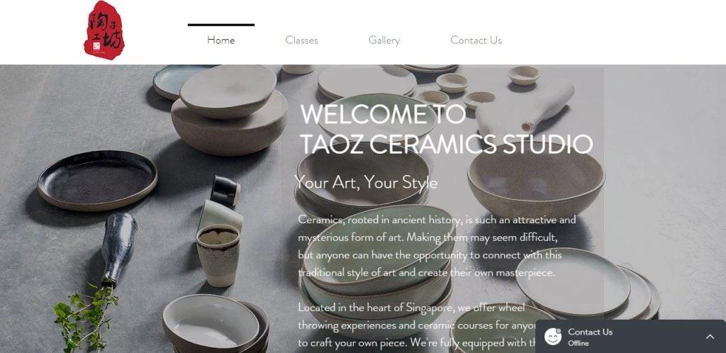 Taozeramics Top Pottery Studios in Singapore