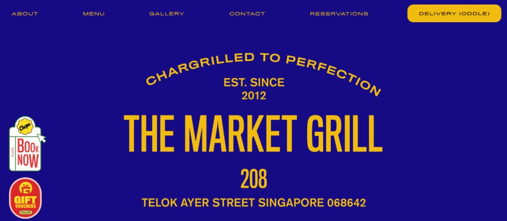 The Market Grill Top Steak Restaurants in Singapore