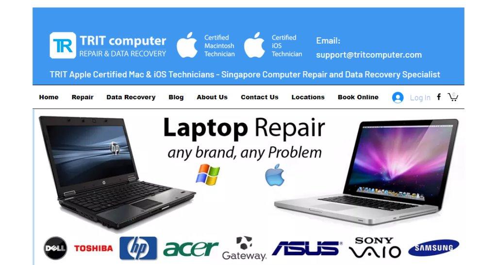 Trit Computer Top Laptop Repair in Singapore