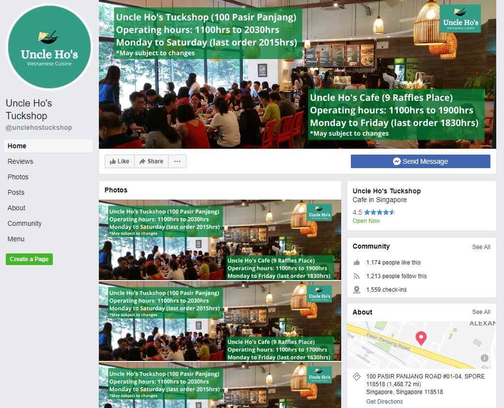 Uncle Hos Top Vietnamese Food Restaurants in Singapore