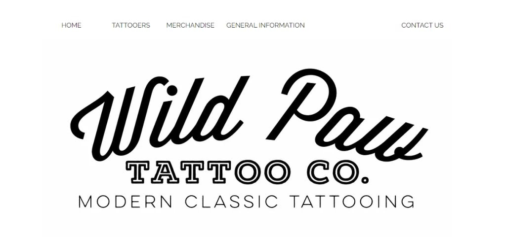Wild Paw Top Tattoo Shops in Singapore