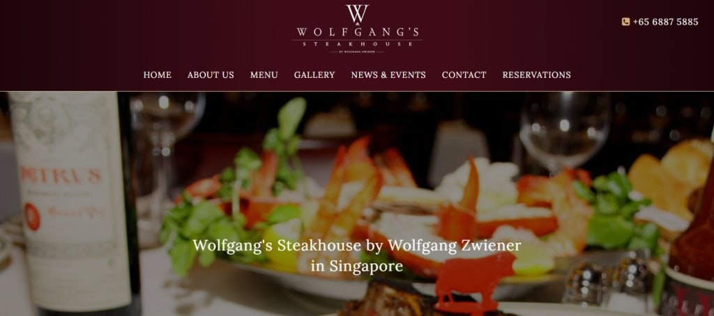 Wolfgang Top Steak Restaurants in Singapore