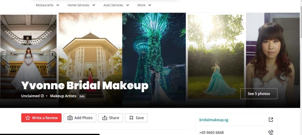 Yvonne Bridal Top Bridal Makeup Studios in Singapore