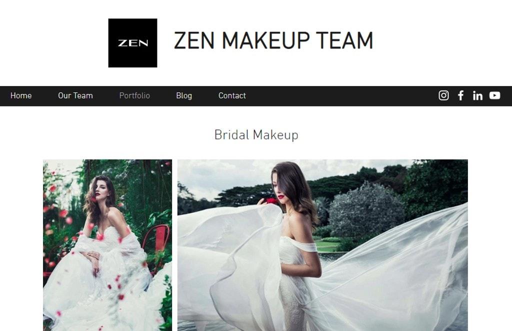 Zen Top Bridal Makeup Studios in Singapore