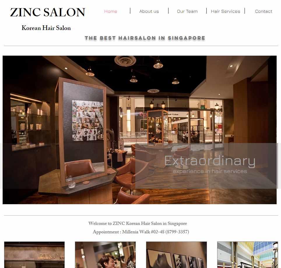 Zinc Top Korean Hair Salons in Singapore