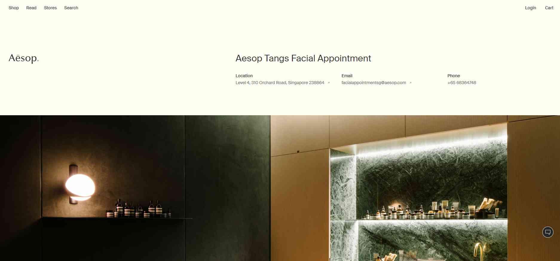 aesop Top Facial Salons in Singapore