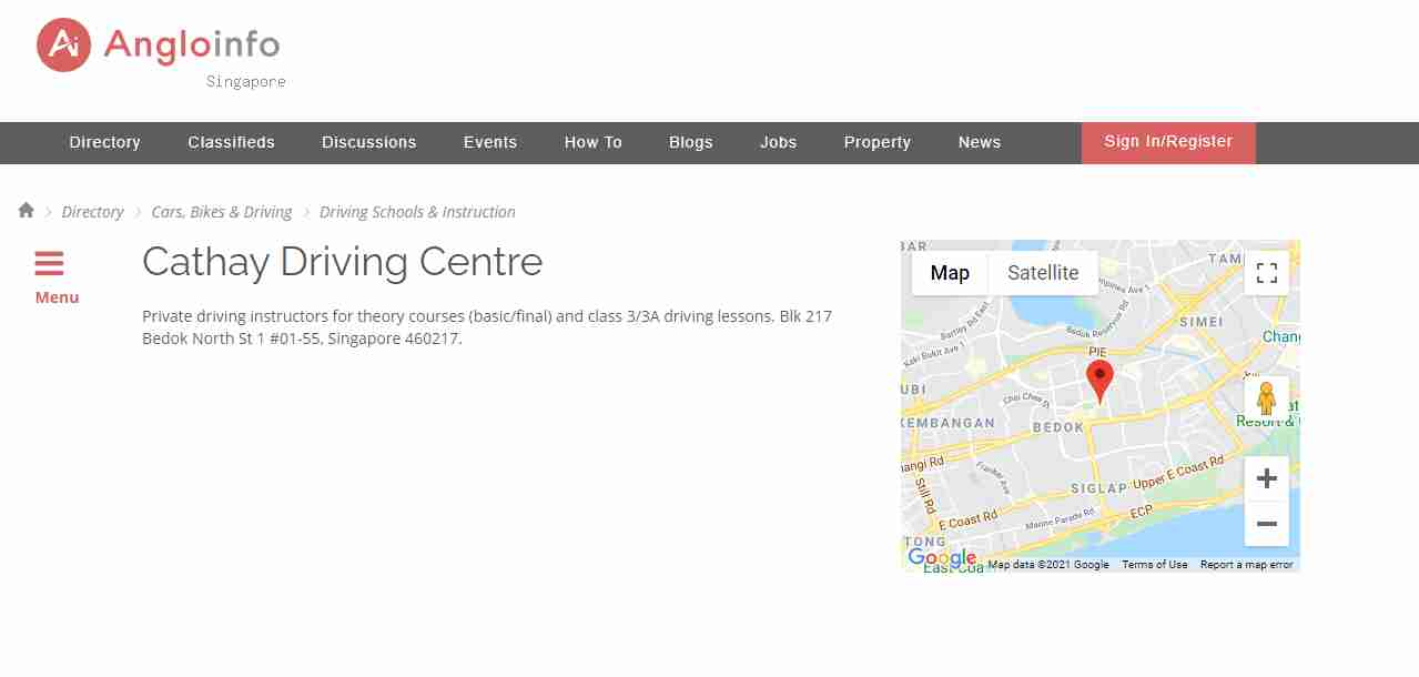 cathay driving Top Driving Schools in Singapore